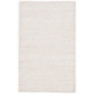 Jaipur Living Calista Natural White Area Rug - 5′ × 8′ For Sale
