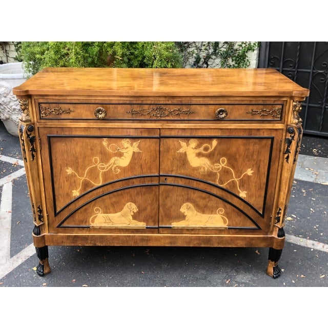 Neoclassical Vintage Neoclassical Satinwood Inlaid Commode by Traditional Imports For Sale - Image 3 of 5