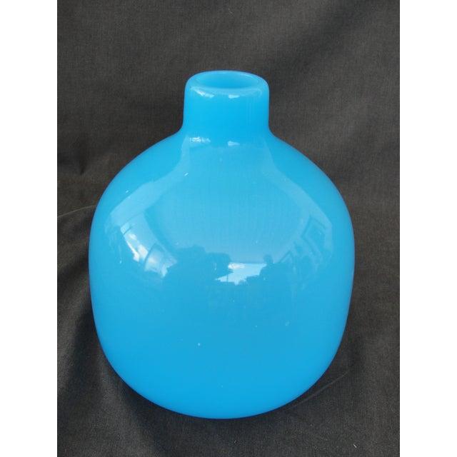 Mid-Century Modern Murano Blue Empoli Art Glass - Image 2 of 5