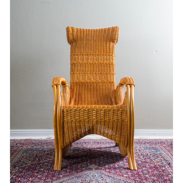 Vintage Wicker & Rattan Chair - Image 3 of 6