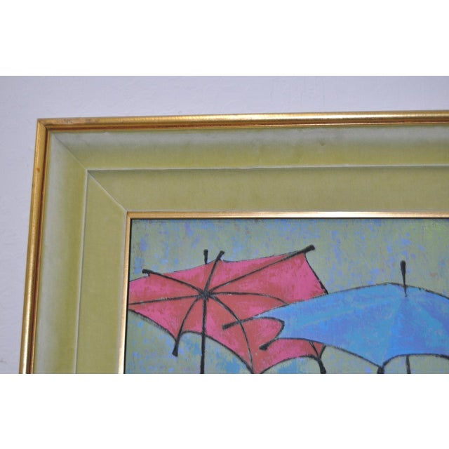 Mid 20th Century Mid-Century Modern Oil Painting by G. Richardson C.1959 For Sale - Image 5 of 8