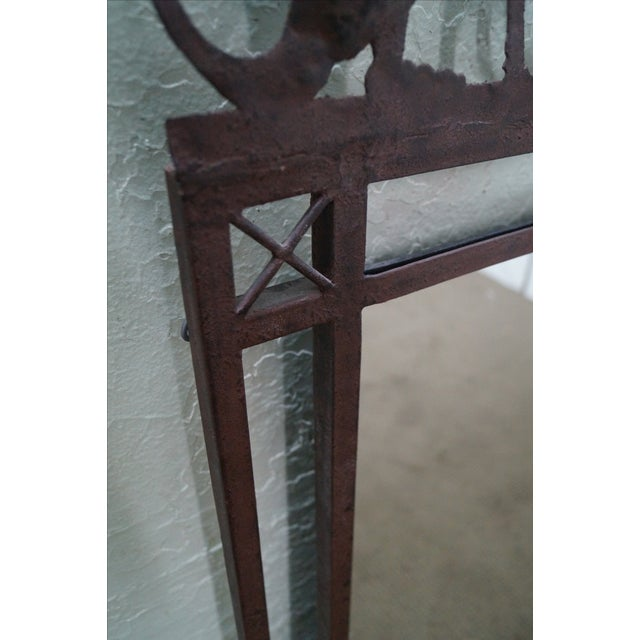 Medieval Gothic Custom Iron Frame Wall Mirror - Image 7 of 10