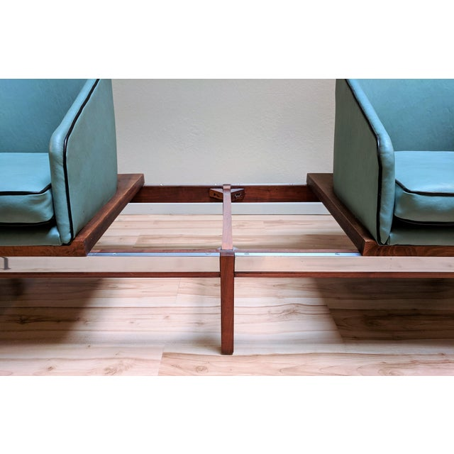 1950s Arthur Umanoff for Madison Furniture Modular Loveseat or Bench With Table For Sale - Image 9 of 13