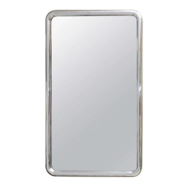 Modernist Steel Mirror For Sale