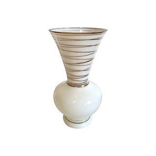Gold Stripe Glass Vase