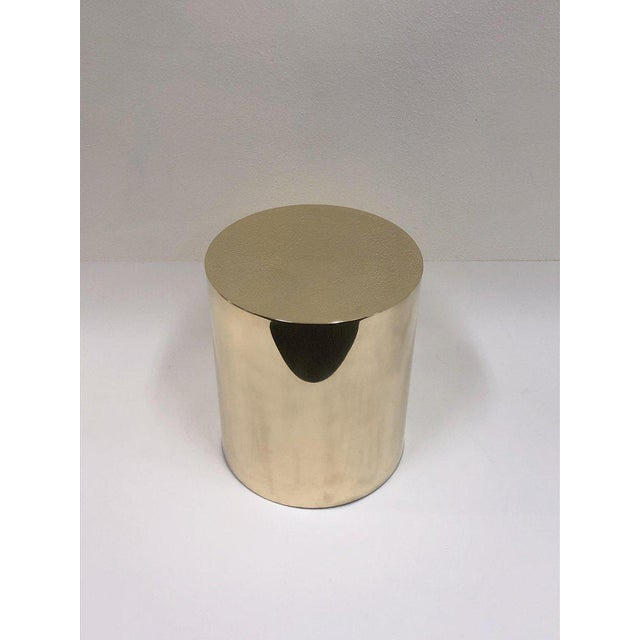 Brass Polish Brass Drum Table by Brueton For Sale - Image 7 of 8
