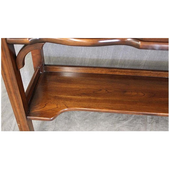 Cherrywood & Brass Two-Tier Sofa Table - Image 4 of 7