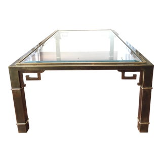 Vintage 1970s Greek Key Mastercraft Coffee Table For Sale