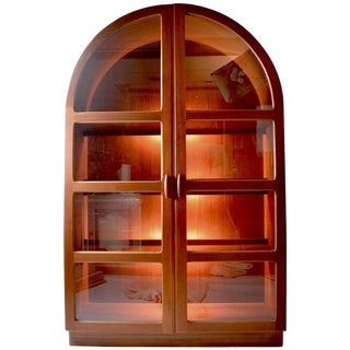 Danish Modern Cathedral Form Bookcase by Dyrlund For Sale