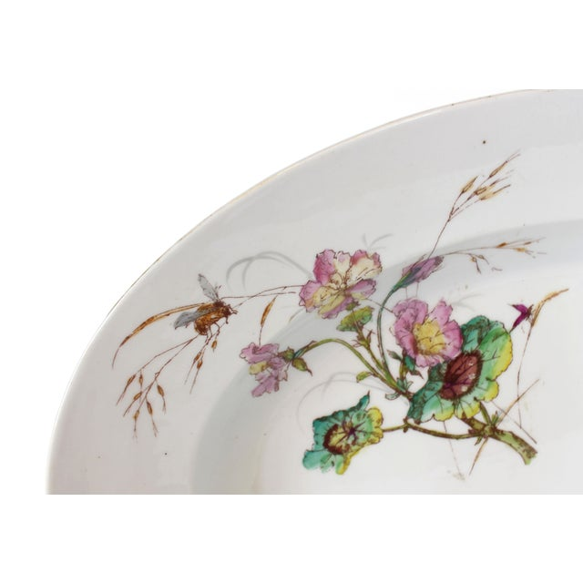 Ceramic Limoges Delinieres & Co Porcelain With Floral Design Serving Platter from Late 1800s For Sale - Image 7 of 12
