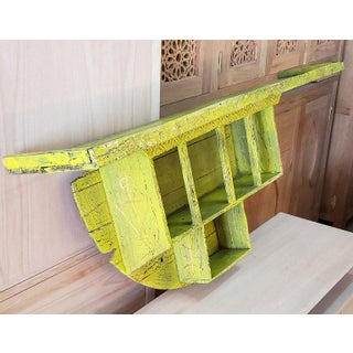 Moroccan Reclaimed Yellow Wooden Wall Shelf Preview