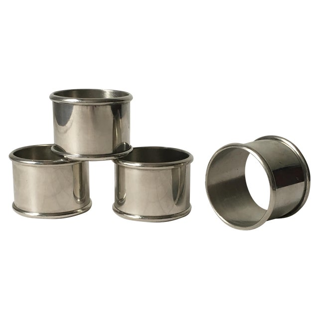 Kirk Stieff Pewter Napkin Rings - Set of Four For Sale