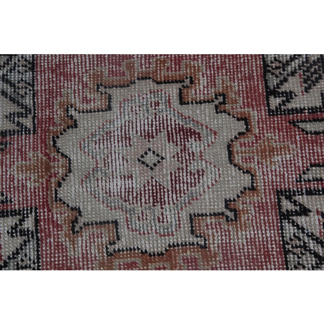 """1970s Turkish Wool Rug - 34"""" X 16"""" For Sale In Baltimore - Image 6 of 9"""