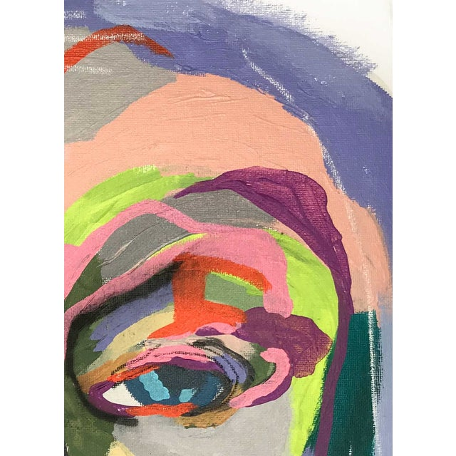 """Contemporary Abstract Portrait Painting """"My Mother's Daughter"""" - Framed For Sale In Detroit - Image 6 of 9"""