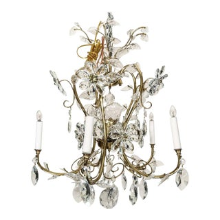 Vintage Louis XV Style Chandelier Crystal and Brass For Sale
