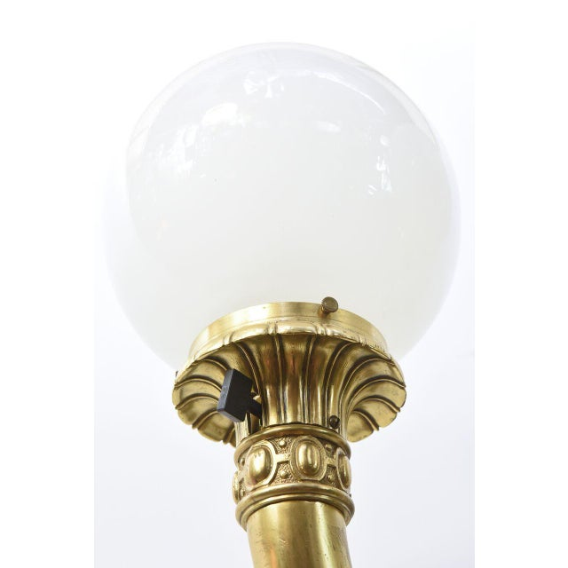 Gold Cast Brass Early Electric Sconce For Sale - Image 8 of 11