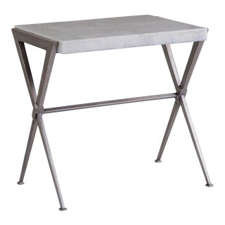 Mid-Century Modern Artistica Home Greta Gray Metal Side Table