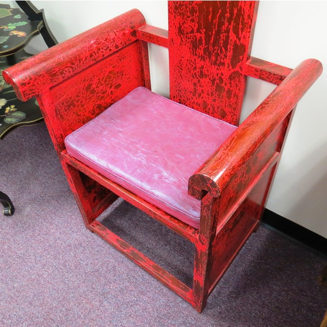 """Tall Asian Alter Chair 81""""High - Image 3 of 6"""