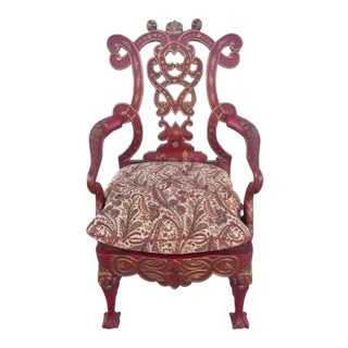 1940s Vintage Italian Renaissance Chair For Sale