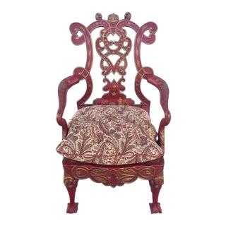 1940s Vintage Italian Renaissance Chair For Sale