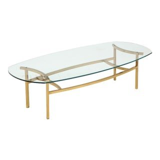 Bertha Schaefer Brass and Glass Cocktail Table for M. Singer & Sons For Sale