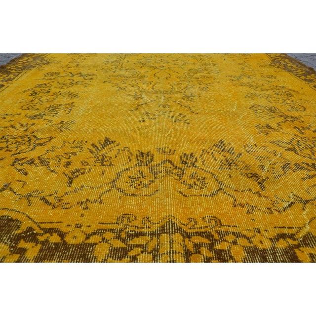 Turkish Handmade Yellow Rug - 5′8″ × 9′6″ - Image 4 of 6