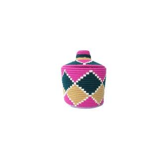 'Fuschia Luxe' Moroccan Woven Bread Basket