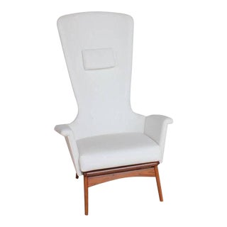 Adrian Pearsall Sculptural High Back Lounge Chair For Sale