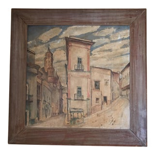 Original Abstract City Scene Painting by Ross Shattuck For Sale