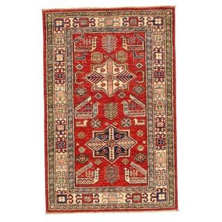 Pasargad Ny Pak Super Kazak Lamb's Wool Rug - 2′8″ × 4′1″ For Sale