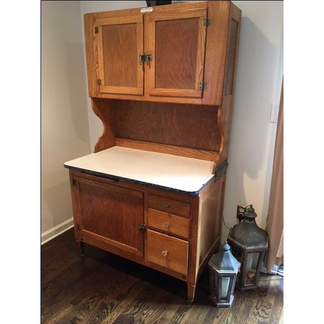 Used Oak Kitchen Cabinets: 1930s Antique Hoosier Kitchen Cabinet