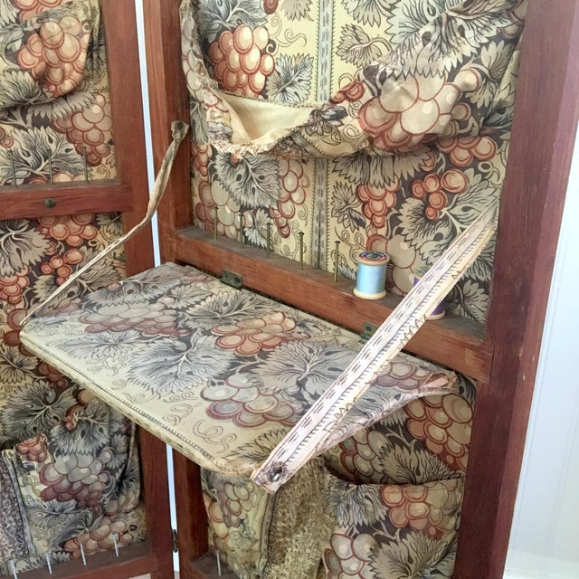 Antique Folding Sewing Cabinet For Sale - Image 5 of 7