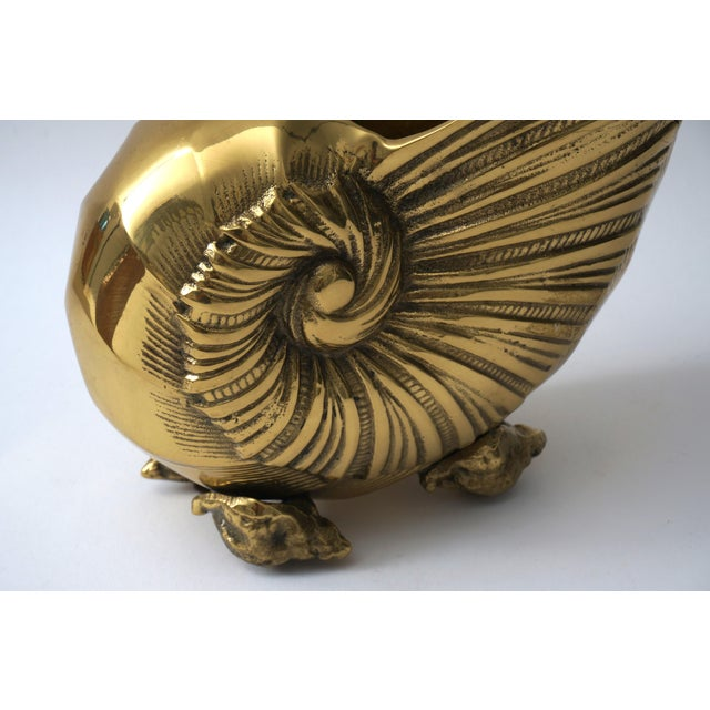 Nautilus Form Brass Cachepot - Image 7 of 8