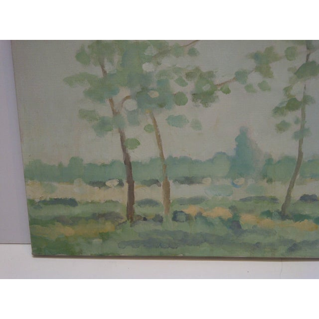 "This is an Original Signed Painting On Canvas that is titled ""Trees"" painted by Frederick McDuff. Frederick McDuff Passed..."