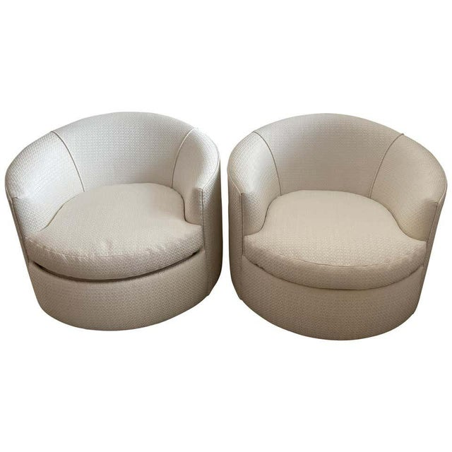 Vintage Swivel Club Chairs - a Pair For Sale - Image 12 of 12