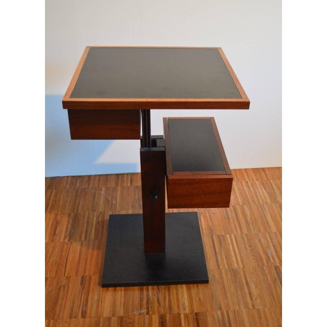 Wood Nightstand Side Table by Bernard Vuarnesson for Sculptures-Jeux in Paris, 1980 For Sale - Image 7 of 8