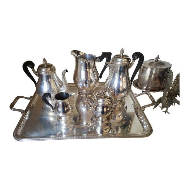1990s Christofle Silver Plated Tea Set - 6 Pieces For Sale