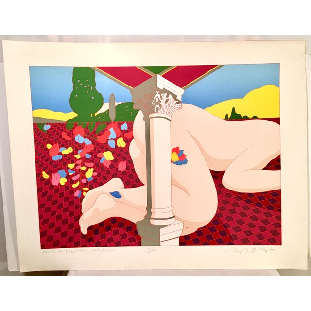 "1979 Signed Milton Glaser Abstract/Expressionist Serigraph ""Nude on the Music Hall Floor""- For Sale - Image 12 of 12"