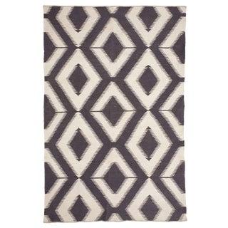 Handmade Flat Weave Indian Dhurrie Rug - Dimensions 6′1″ × 8′9″