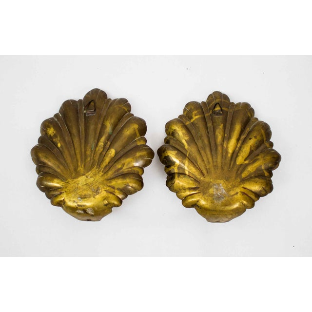 Mid Century Brass Candle Sconces - a Pair For Sale In Dallas - Image 6 of 7