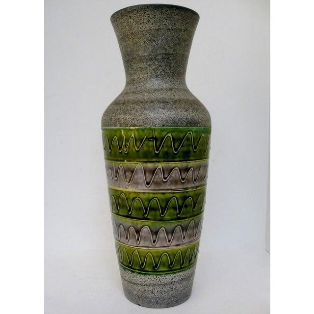 Contemporary West German Ceramic Floor Vase For Sale - Image 3 of 8