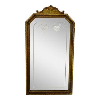 Vintage Decorative Nurre Mirror Etched Glass Wall Mirror