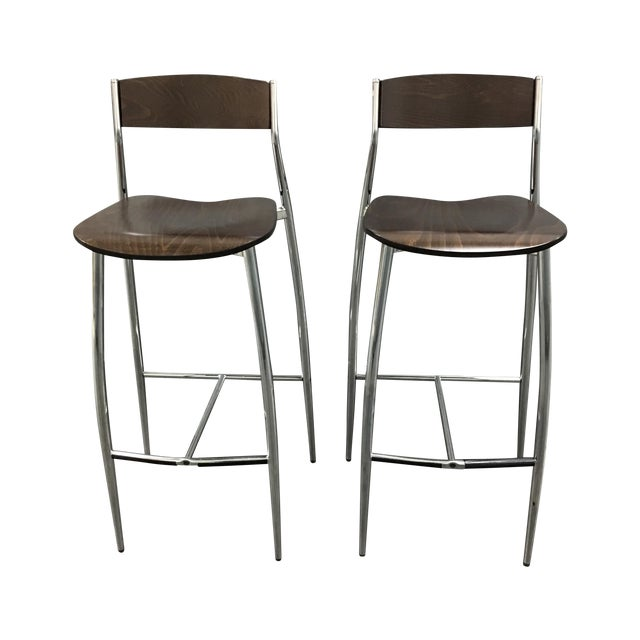 Design Within Reach Baba Bar Stools - A Pair - Image 1 of 8