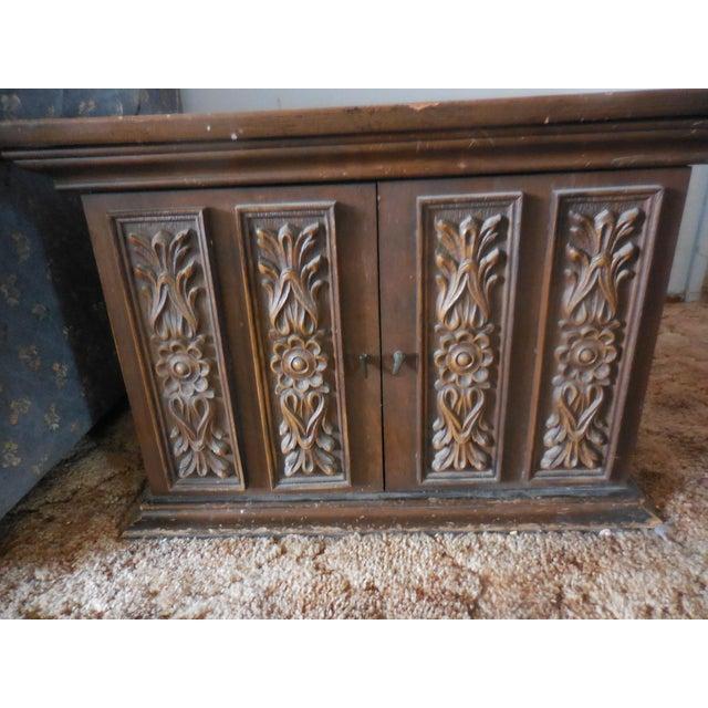 Vintage Carved Walnut End Table - Image 2 of 4