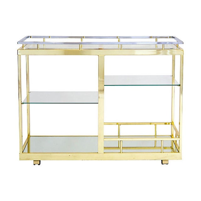 Brass & Chrome Cocktail Trolly - Image 1 of 9