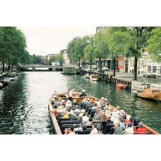 Vintage 1960s Scandinavia Canal Boat Tour Photograph Print