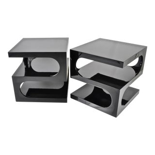 Pair of Sculptural Space Age Side Tables, 1970s For Sale