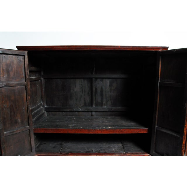 Chinese Wedding Cabinet With Square Lockplate For Sale - Image 10 of 13
