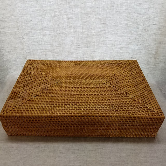 Natural Rattan Tray For Sale In Dallas - Image 6 of 6