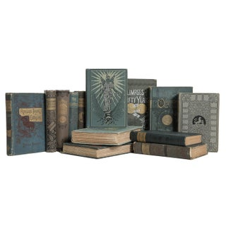 Antique Turquoise and Tan Book Set, (S/13) Preview
